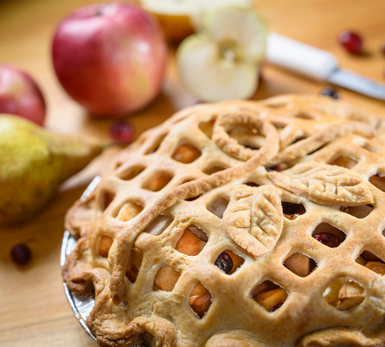 Apple Pear Cranberry Pie