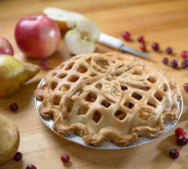 Apple Pear Cranberry Pie Side