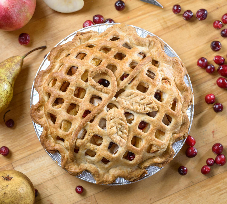 Apple Pear Cranberry Pie Top