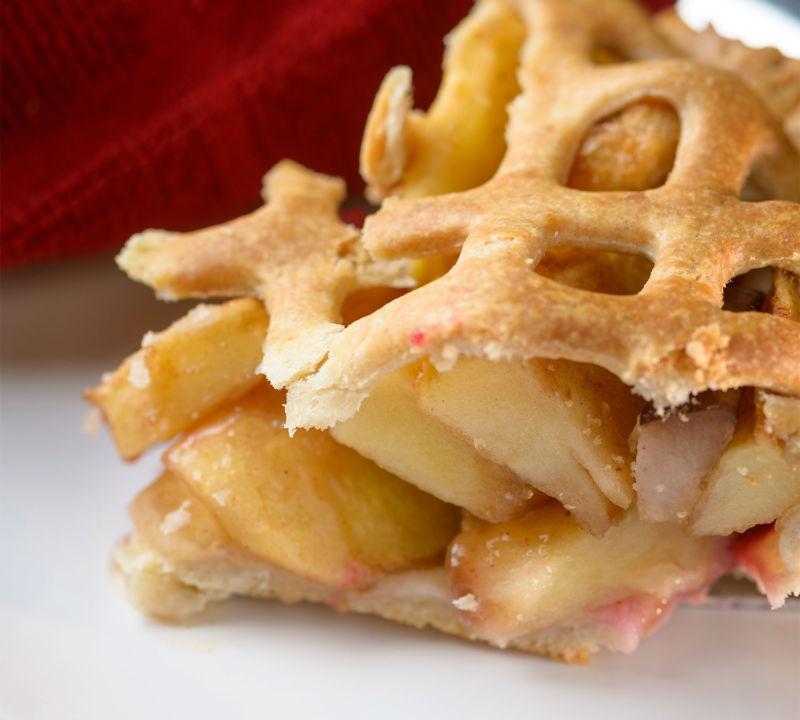 Apple Pear Cranberry Pie Slice